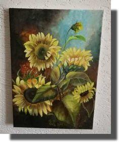 Sunflover, oil canvas 30x45 Oil, Canvas, Painting, Tela, Painting Art, Canvases, Paintings, Painted Canvas, Drawings