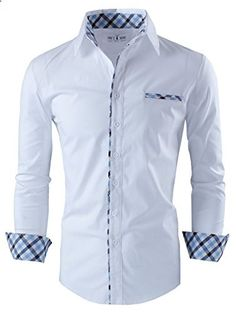 Tomâ€s Ware Mens Premium Casual Inner Layered Dress Shirt T.- Tom's Ware Mens Premium Casual Inner Layered Dress Shirt Tom's Ware Mens Premium Casual Inner Layered Dress Shirt Go to the website to read more description. Casual Button Down Shirts, Casual Shirts, Shirt Collar Styles, Only Shirt, Camisa Formal, African Shirts, Long Sleeve Shirt Dress, Dress Shirts, Men's Shirts