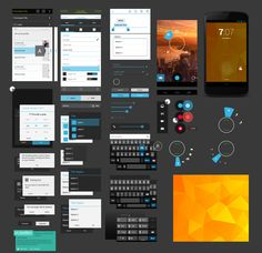File name: Free Android UI Design Kit PSD-Nexus 4 GUI File Format: PSD Format (photoshop psd file) File MB Related colors:black,gray and more Graphic elements:flat,android,ui design,ui ki… Android Mockup, Android Ui, Free Android, Ui Kit, Mobile Ui Design, App Design, Mockup Photoshop, Mobile App Ui, User Interface Design