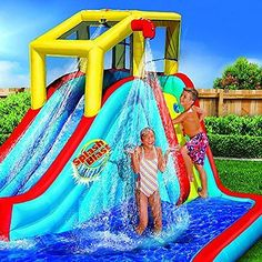 Bounce House Inflatable Water Slide Bouncer Jumper Waterslide Backyard Kids Pool