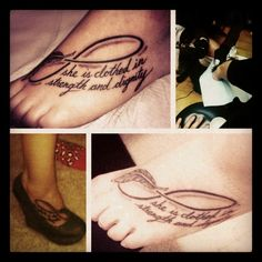 """she is clothed in strength and dignity tattoo 