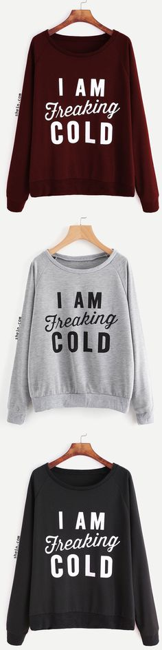 I'm freaking cold!