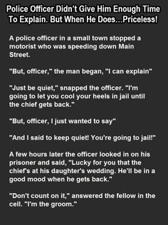 This Police Officer Didn't Give Him Enough Time To Explain. But When He Does…Priceless!