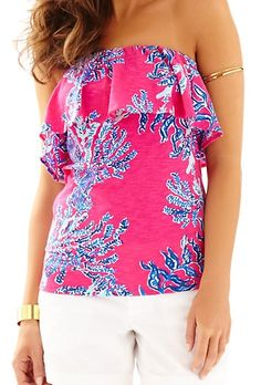 0fcf5230a3a9 Lilly Pulitzer Wiley Ruffle Tube Top in Samba I NEED THIS SO MUCH Lilly  Pulitzer Tops