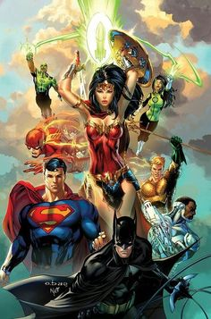 Comics Forever, The Justice League: Rebirth // artwork by Eric...