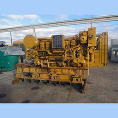 Caterpillar 845 kW Diesel Generator.  Model: 3512DITA.  1387 hp @ 1200 rpm. 277/480V.  3 phase.     Serial no: 5YA00850.  Manufactured in 1992.  Recently reconditioned. 0 hours...