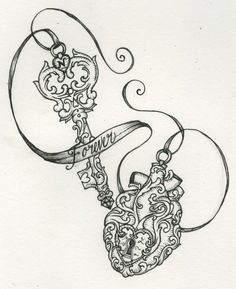 Lock and Key tattoo. Cover up idea the lock on my heart tattoo and then the key on my right forearm Tatoo Art, Body Art Tattoos, Tattoo Drawings, New Tattoos, Tatoos, Rosary Tattoos, Bracelet Tattoos, Tattoo Outline, Skull Tattoos
