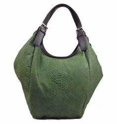 Shelly - Top Handle Embossed Genuine Leather #Handbag - #Green   Two hand held and adjustanble #straps. Zipper closure Inside Zipper Pockets and two Slip Pockets Color: Green Measurements (cm)  - L36 x H32 x  W9 Genuine Italian #Leather Made in Italy. gvgbags.com