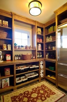 want a pantry large enough that along with lots of shelves and cabinets, could put a huge freezer!