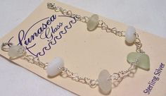 Make this as necklace with 5 or 7 pieces of sea glass, the rest will be chain*