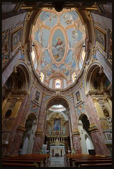 The Carmelite Church in Mdina in Malta. My daughter got married here.