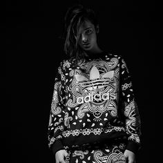 「The ultimate in heritage graphics, the #adidasOriginals Paisley women's capsule gives the print of modern rebellion a feminine edge. Available now.」
