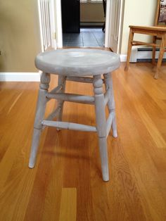 Small stool painted with Coco then a wash of Old White.