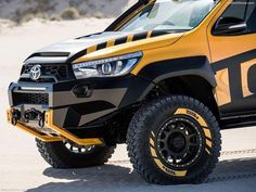 Ever fantasised about a real life Tonka Truck when you were a kid? Well, to mark Tonka's birthday, Toyota fulfills every man's childhood dream by transforming its HiLux into a man-sized Tonka Truck that starts and drives. Toyota 4x4, Toyota Hilux, Toyota Trucks, Toyota Tacoma, Custom Trucks, Cool Trucks, Pickup Trucks, Hilux 2016, Off Road Bumpers