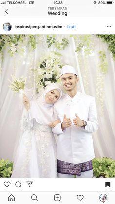 Embroidery Inspiration Fashion Wedding Dresses 37 Ideas For 2019 Muslim Wedding Gown, Kebaya Wedding, Muslimah Wedding Dress, Muslim Wedding Dresses, Muslim Brides, Wedding Hijab, Wedding Dress Styles, Wedding Bride, Wedding Gowns