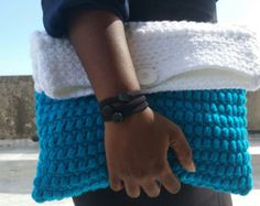 Elegant Handbag Crocheted Clutch Clutches Evening by LiveFashion