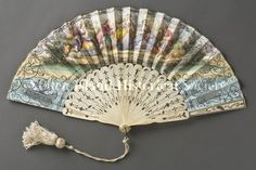 Fan  Date1840-1850  DescriptionFolding fan (Romantic or Rococo Revival style). (Staten Island Historical Society Collection)
