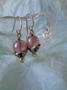 Vintage earrings purple lilac lavendar dangle by hopechestgifts, $7.00