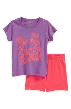 Under Armour HeatGear® Tee & Shorts (Baby Girls) available at #Nordstrom