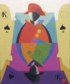 """Saatchi Art Artist Victor Popov; Painting, """"Spieler.K."""" #art"""