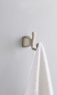This towel hook is easy to install with the ClickLock mounting system. Venturi is also available in a full series of coordinating lavatory faucets and tub and shower products for a complete bathroom makeover. Complete Bathrooms, Guest Bathrooms, Master Bathroom, Bathroom Ideas, Bathroom Towel Hooks, Shower Towel, Shower Tub, Small Space Storage, Small Apartment Decorating