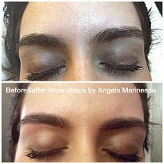 Before and after brow shape