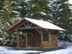 My Shed Plans - Moore Construction - Custom Home Builder - Port Angeles - Sequim - Now You Can Build ANY Shed In A Weekend Even If You've Zero Woodworking Experience! Firewood Shed, Firewood Storage, Stacking Firewood, Wood Storage Sheds, Storage Shed Plans, Storage Ideas, Custom Home Builders, Custom Homes, Lumber Rack