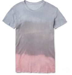 The Elder Statesman Hand-Dyed Cashmere and Linen-Blend T-Shirt | MR PORTER