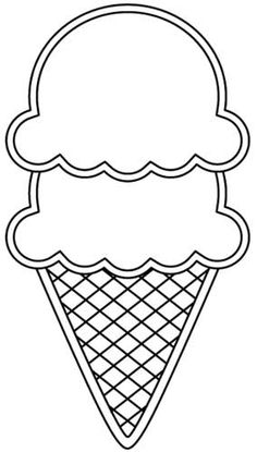 printable ice cream cone pattern use the pattern for