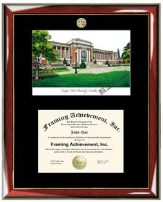 oregon state university osu lithograph matted diploma frame choice of college major gold seal insignia premium