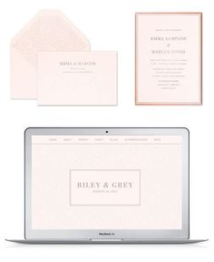 Wedding website examples from Riley & Grey. Click through to check ...