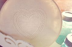 A Feathered Nest: Monochromatic Embroidered Heart