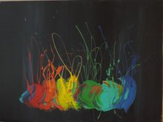 "'Color Blobs' by Cynthia Todd | $250 | 24""w x 18""h 