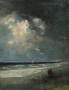 Gill Martin - moonlit beach scene
