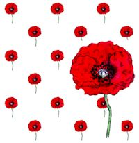 FREE printable red flower scrapbooking paper: printable poppy ...