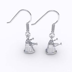 Dalek earrings! Click for more Doctor Who jewelry