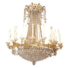 1stdibs - Antique French Empire Exceptional Ormolu and Baccarat Chandelier explore items from 1,700  global dealers at 1stdibs.com