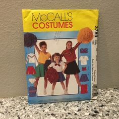 Lots of cute costume patterns for Halloween in the shop. Cheer Costumes, Cool Costumes, Cheerleader Halloween, Halloween Costumes You Can Make, Fabric Gift Bags, Costume Patterns, Vintage Paper Dolls, Barbie Collector, Cheerleading