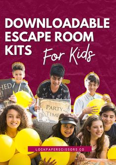 Become a party legend by throwing an escape room party at home, school, or work. Conjure up hours of fun with a ready-to-play printable kit playable by 2-200+ people! Escape Room For Kids, Kits For Kids, Ready To Play, Fun Activities For Kids, The Conjuring, House Party, Holiday Crafts, Little Ones, Party Time