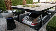 Haus mit Garage – die moderne Garage House with garage - the modern garage - fresHouse Garage House, Dream Garage, Car Garage, Garage Lift, Garage Doors, Passage Secret, James Bond Style, Underground Garage, Underground Homes