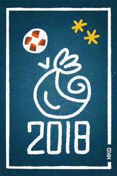 NIKO – Illustrateur › La France, championne du monde de foot (bleu)