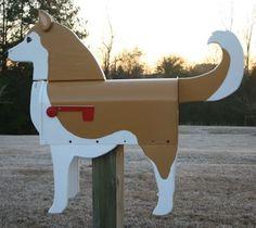 Unique Handmade Siberian Husky Dog Mailbox