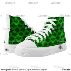 Neon green fractal abstract. High-Top sneakers Custom Sneakers, Neon Green, On Shoes, Converse Chuck Taylor, High Tops, High Top Sneakers, Your Style, Pairs, Unisex