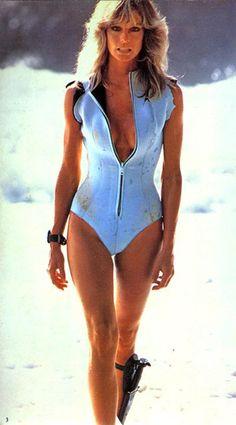 Farrah Fawcett Zipper Bathing Suit