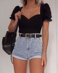Trendy Summer Outfits, Cute Casual Outfits, Simple Outfits, Pretty Outfits, Stylish Outfits, Spring Outfits, Girly Outfits, Classy Outfits For Teens, Denim Outfits