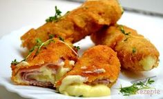 Breaded filled ham rolls - All Recipes & Vegan and other Party Finger Foods, Party Snacks, Ham Rolls, Bon Ap, Good Food, Yummy Food, Milanesa, Great Appetizers, Food Humor