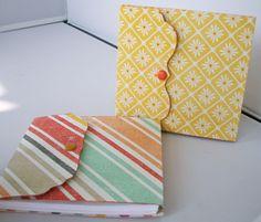 Pocket Notebooks The Hybrid Chick Pocket Notebook, Notebook Covers, 3d Paper Crafts, Diy Paper, Post It Holder, Scrapbooking, Craft Show Ideas, Envelopes, Handmade Books