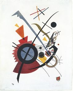 Violett / Vasily Kandinsky / 1923 / Lithograph in red, yellow, blue and black