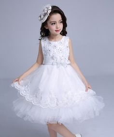 $21.99 This Off-White Sleeveless Dress - Toddler & Girls is perfect! #zulilyfinds