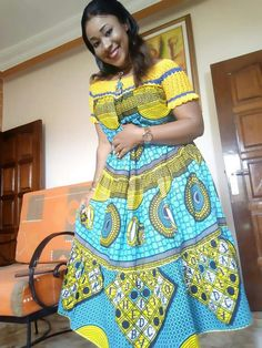 Lovely Ankara styles for the lovely ladies - DarlingNaija Latest African Fashion Dresses, African Dresses For Women, African Print Dresses, African Print Fashion, Africa Fashion, African Attire, Women's Fashion Dresses, Ankara Gown Styles, Tribute